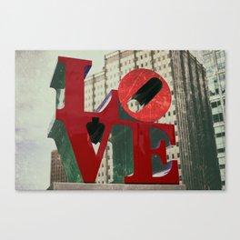 Love Sign Philadelphia Canvas Print