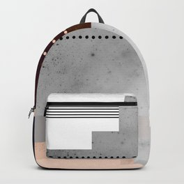 Speckled Polygon Dot Stripe Backpack