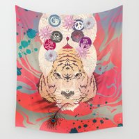 psychedelic Wall Tapestries featuring Psychedelic by Pepe Psyche