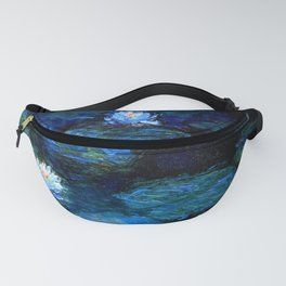 monet water lilies 1899 blue Teal Fanny Pack