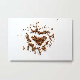 Coffee heart Metal Print