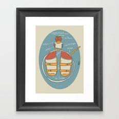 der Strumpf, die Sandale. Framed Art Print