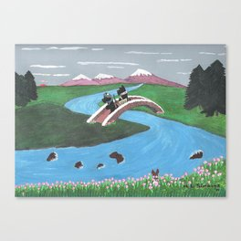 Looking for Nessie - Scotties - Scottish Terriers Canvas Print
