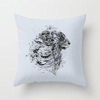 leo Throw Pillows featuring Leo by Daniac Design