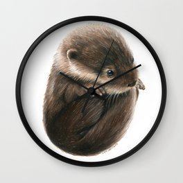 Shy Otter Wall Clock
