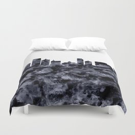Atlantic City Skyline Duvet Cover