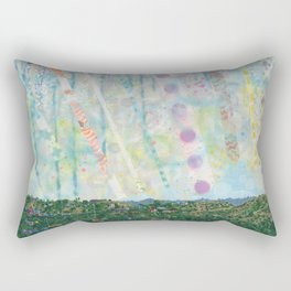 The Early Years Blue Rectangular Pillow