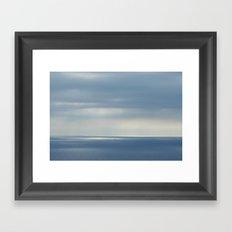 barcelona's sea Framed Art Print