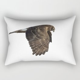 Northern Harrier Hunting, No. 4 Rectangular Pillow