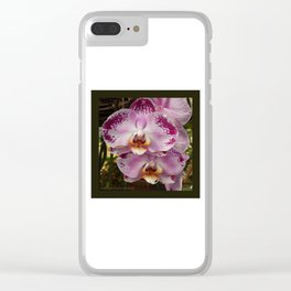 Pink Orchid Blossom from Mexico Clear iPhone Case