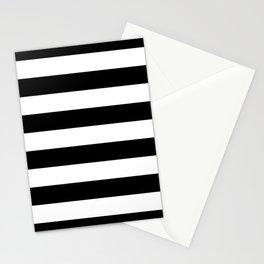 Black White Stripe Minimalist Stationery Cards