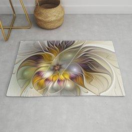 Abstract Fantasy Flower Fractal Art Rug