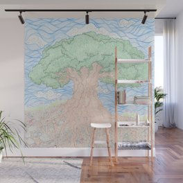 Roots and Leaves Wall Mural
