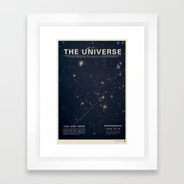 THE UNIVERSE - Space | Time | Stars | Galaxies | Science | Planets | Past | Love | Design Framed Art Print
