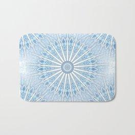 Pale Blue Mandala Bath Mat