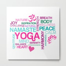 Benefits of Yoga Metal Print