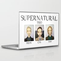 supernatural Laptop & iPad Skins featuring SUPERNATURAL by Space Bat designs