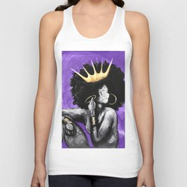 Naturally Queen VI PURPLE Unisex Tank Top