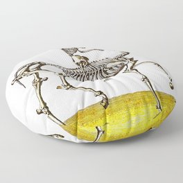 Horse Skeleton & Rider Floor Pillow
