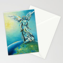 Archangel Michael - Hand painted Angel Art Stationery Cards