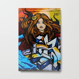 Graffiti Queen  Metal Print