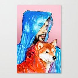 Raincoat Buddies Canvas Print