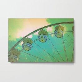 Country Fair Ferris Wheel #4 Metal Print