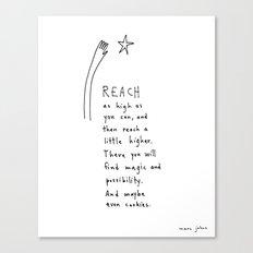 reach as high as you can Canvas Print