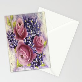 Roses and Lilacs Stationery Cards