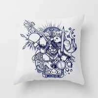 doodle Throw Pillows featuring Doodle by Puddingshades