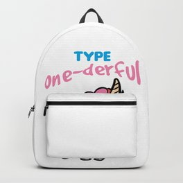 TYPE ONE DERFUL Diabetes Diabetic funny Unicorn Backpack