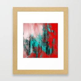 Intense Red And Blue Framed Art Print