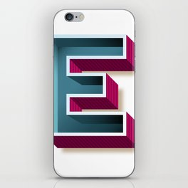 The Letter E iPhone Skin