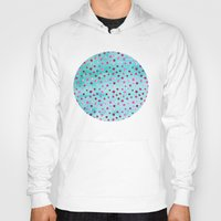polka dots Hoodies featuring Polka Dot Pattern 05 by Aloke Design