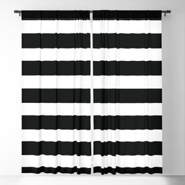Black & White Stripes Blackout Curtain