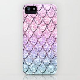 Mermaid Scales on Unicorn Girls Glitter #1 #shiny #pastel #decor #art #society6 iPhone Case