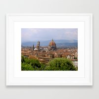 florence Framed Art Prints featuring Florence  by floridagurl