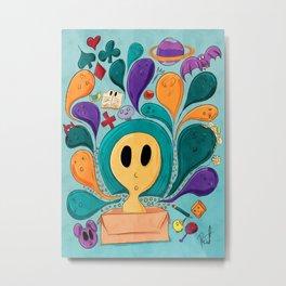 Doodle Box Color Metal Print