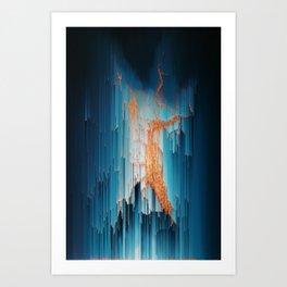 Glitch in the Dark - Abstract Pixel Art Art Print