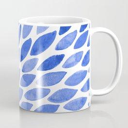 Watercolor brush strokes burst - electric blue Coffee Mug