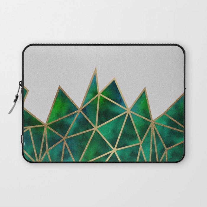 Emerald & Gold Geometric Laptop Sleeve