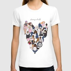 Strong as Hell SMALL Womens Fitted Tee White