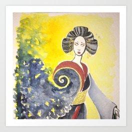 Asian Water Spirit Art Print