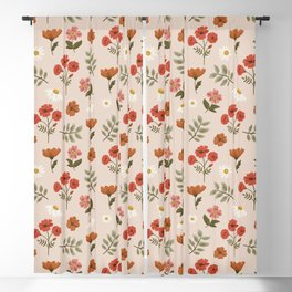 Among the Wildflowers Pattern Blackout Curtain