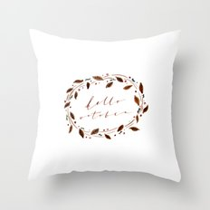 Hello October! Throw Pillow