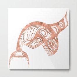 Copper Keét Metal Print