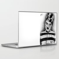 chaplin Laptop & iPad Skins featuring Chaplin by D.E.Pérez