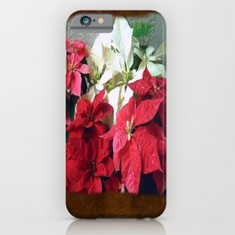 Mixed color Poinsettias 3 Blank P3F0 iPhone Case
