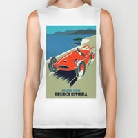 grand theft auto Biker Tanks featuring Retro style auto Grand Prix Rivièra by aapshop
