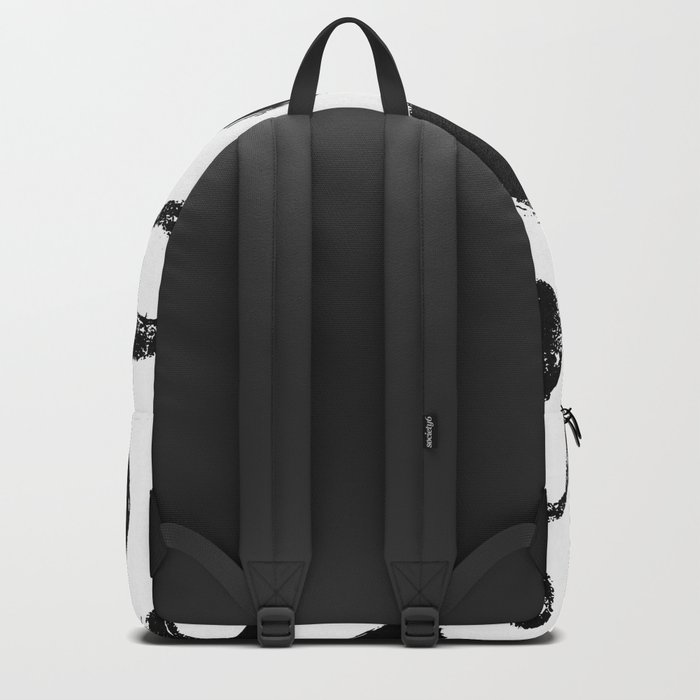 Brushed Dots Black and White Backpack